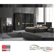 Италианска спалня Беата bianco/nero От Мебели домино Варна