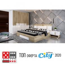 Спален комплект Сити 7037 От Мебели домино Варна