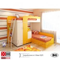 Двуетажно легло за детска стая Фреш От Мебели домино Варна