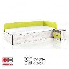 Легло Сити 2024 с нощно шкафче От Мебели домино Варна
