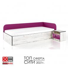 Легло Сити 2026 с нощно шкафче От Мебели домино Варна