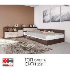 Легло Приста и шкафове Сити 7003 От Мебели домино Варна