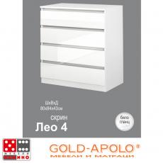 Скрин Лео 4 бял гланц От Мебели домино Варна