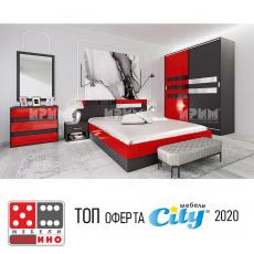 Спален комплект Сити 7050 От Мебели домино Варна
