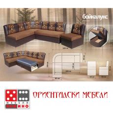 Холов ъгъл Бойка Лукс с фотьойл От Мебели домино Варна