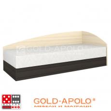 Легло Аполо 3 тъмен дъб/пясъчен дъб От Мебели домино Варна