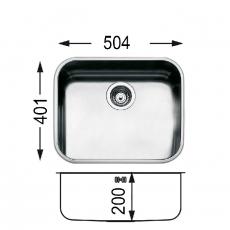 Кухненска мивка за вграждане под плот Ferrara 500 U От Мебели домино Варна